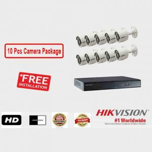 10 Pcs CCTV Camera Package (Hikvision)