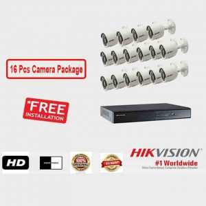 16 Pcs CCTV Camera Package (Hikvision)