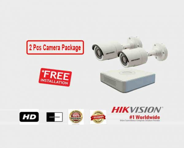 2 Pcs CCTV Camera Package (Hikvision)