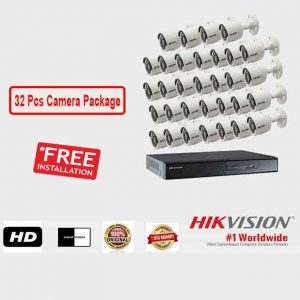 32 Pcs CCTV Camera Package (Hikvision)