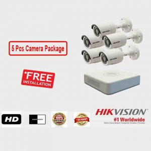 5 Pcs CCTV Camera Package