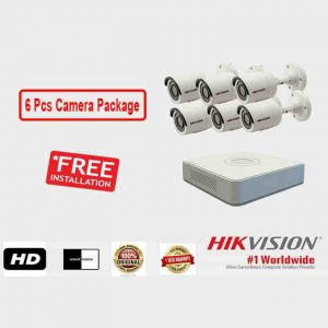 6 Pcs CCTV Camera Package