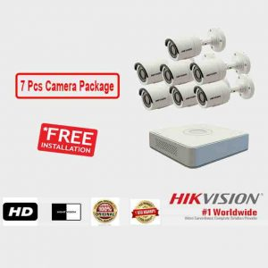 7 Pcs CCTV Camera Package (Hikvision)