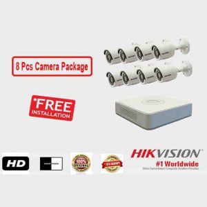 8 Pcs CCTV Camera Package