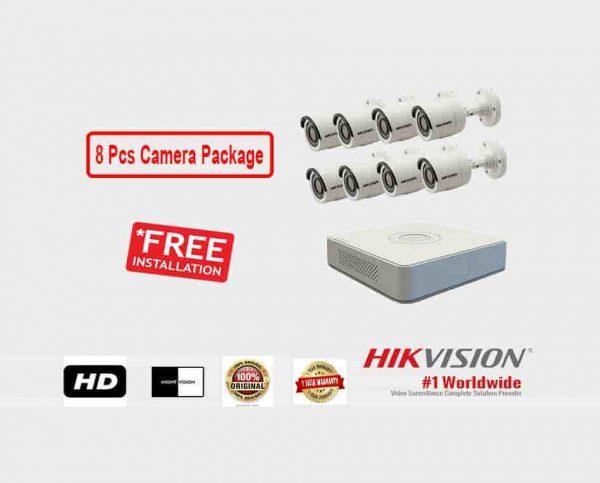 8 Pcs CCTV Camera Package